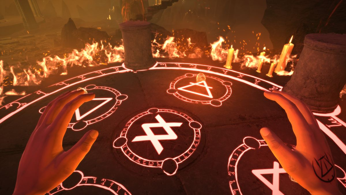 In Exorcise the Demons, your friends guide you through arcane rituals