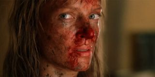 The Bride's bloodied face in the fight with Elle Driver