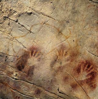 Panel of hands at El Castillo Spain