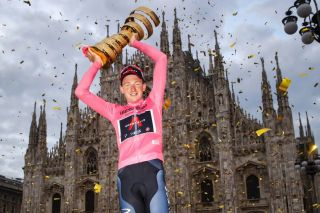 Tao Geoghegan Hart (Ineos Grenadiers) is crowned the winner of the 2020 Giro d'Italia in Milan