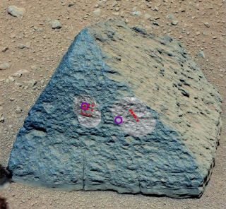 Mars rover Curiosity targets the rock Jake Matijevic.
