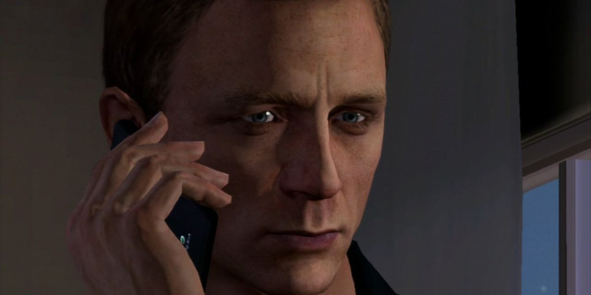 007 Legends Daniel Craig answering the phone in video game form