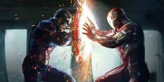 Cap and Iron Man fighting in Civil War