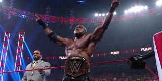 Bobby Lashley celebrating a recent victory on Monday Night Raw