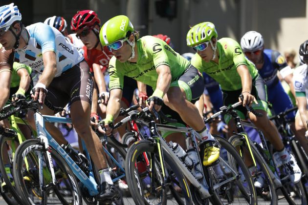 Two Cannondale riders at the Tour Down Under. Photo: Yuzuru Sunada