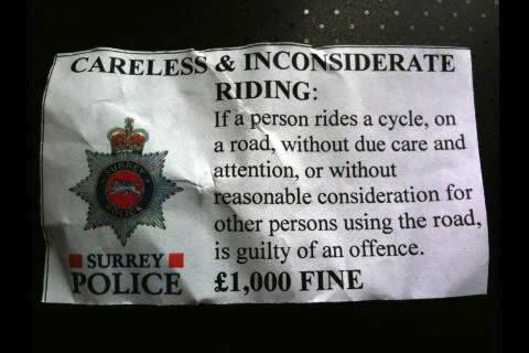 surrey police, cycling