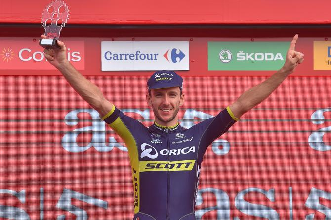 Adam Yates after stage 9 of the Vuelta a España