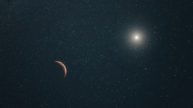 moon and the stars in the galaxy
