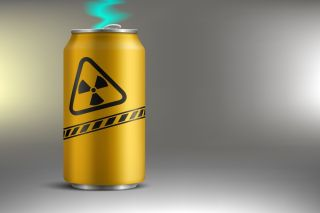 Can of radioactive soda.