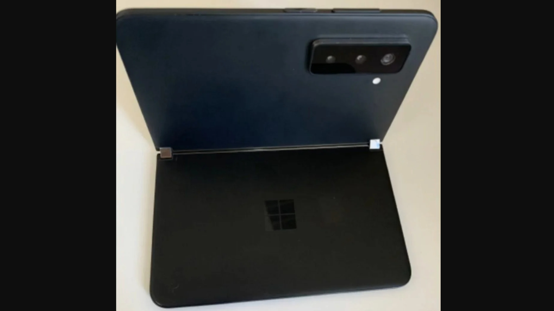 Leaked photos supposedly showing the Microsoft Surface Duo 2