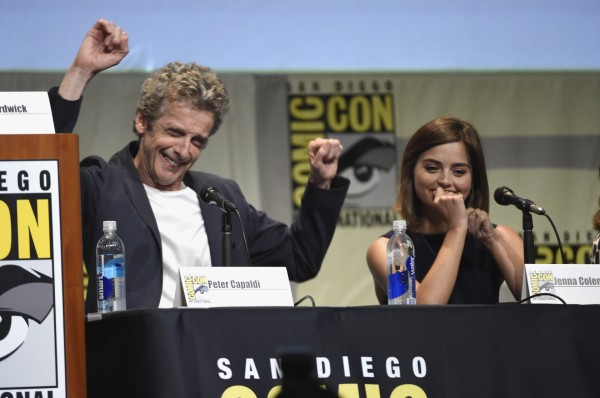 Peter Capaldi and Jenna Coleman at Comic-Con (Chris Pizzello/AP/Press Association Images)