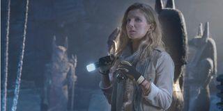 The Mummy Annabelle Wallis crypt exploration