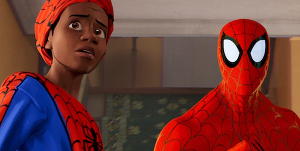 Miles Morales and Peter Parker in Into the Spider-Verse
