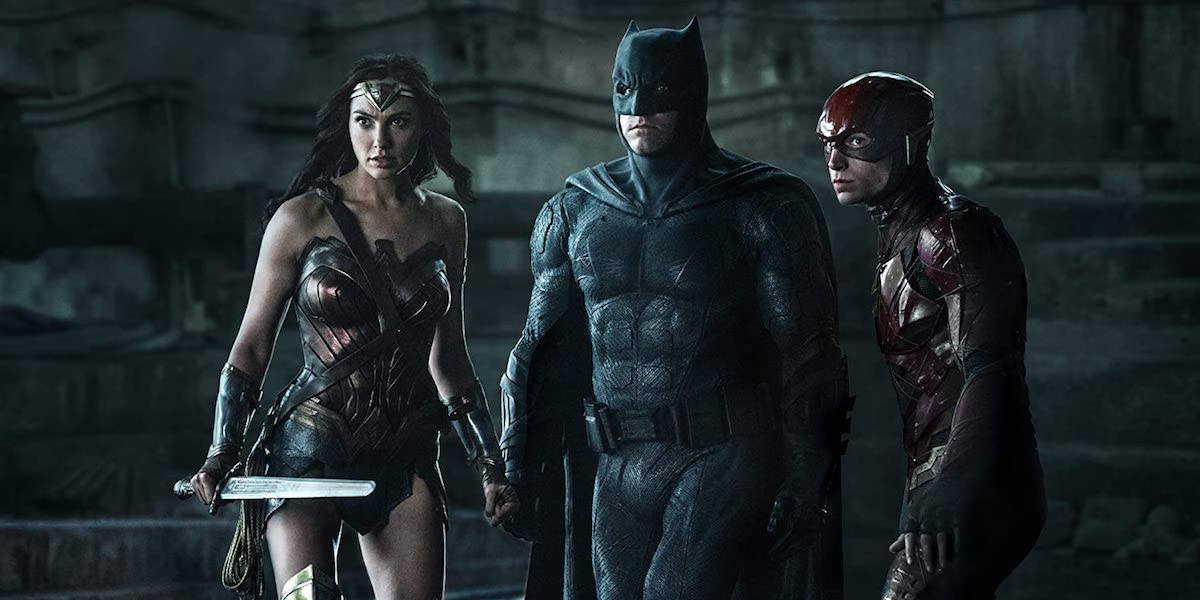 Wonder Woman, Batman and Flash in Justice League