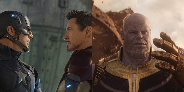 Captain America: Civil War and Avengers: Infinity War