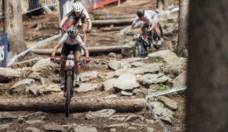 Ferrand-Prevot races in Nove Mesto in 2020