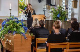At Franks funeral Megan delivers some tough words in Emmerdale