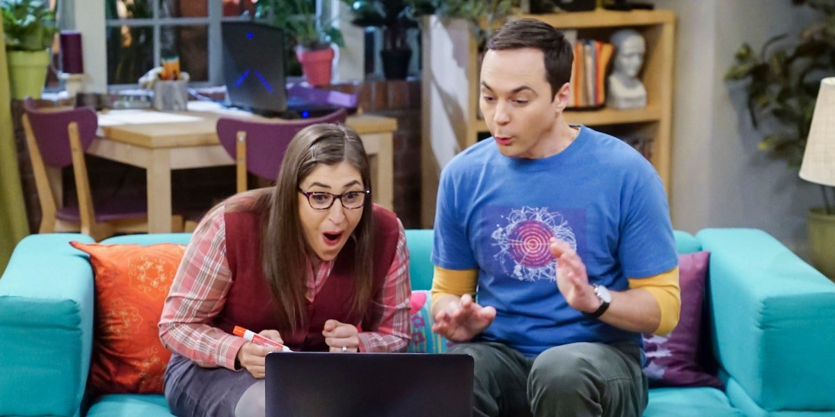 the big bang theory amy and sheldon happily surprised