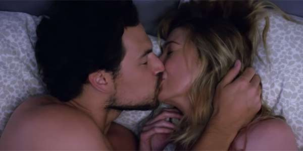 DeLuca and Meredith having sex on Grey's Anatomy