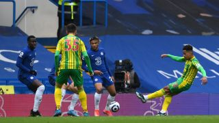 Matheus Pereira scoring against Chelsea