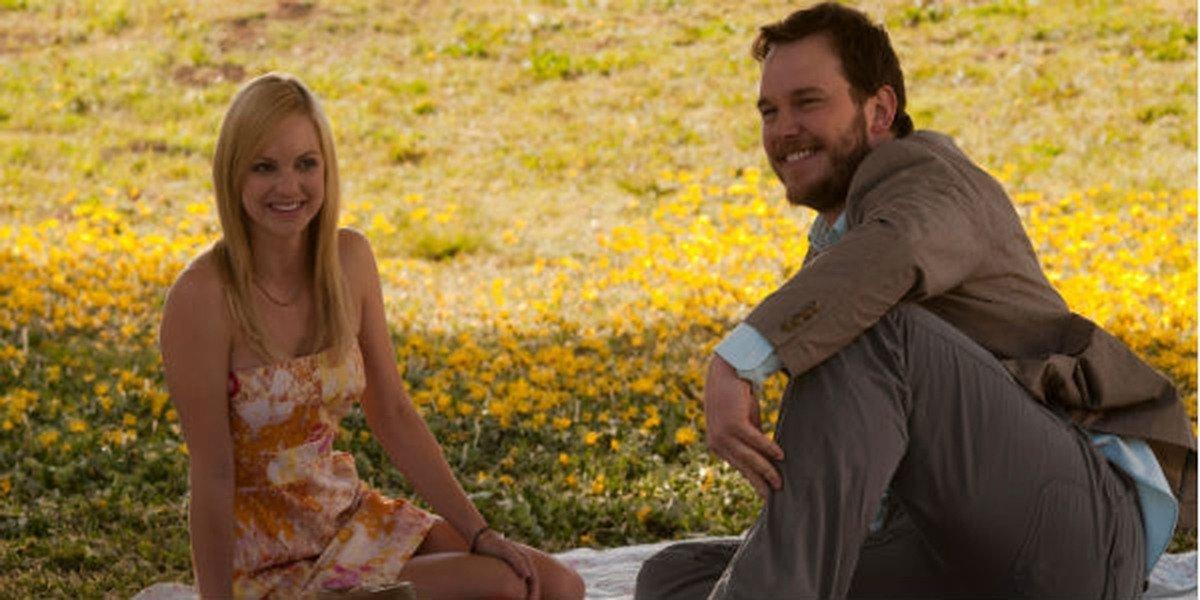 Anna Faris and Chris Pratt in Movie 43