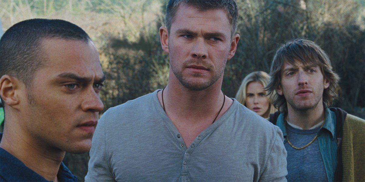 The Cabin in the Woods Jesse Williams chris Hemsworth and Fran Kranz