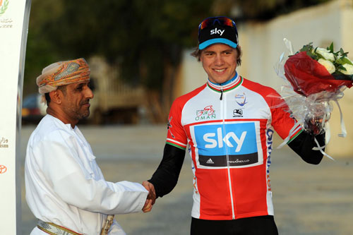 Edvald Boasson Hagen take overall lead, Tour of Oman 2010, stage two