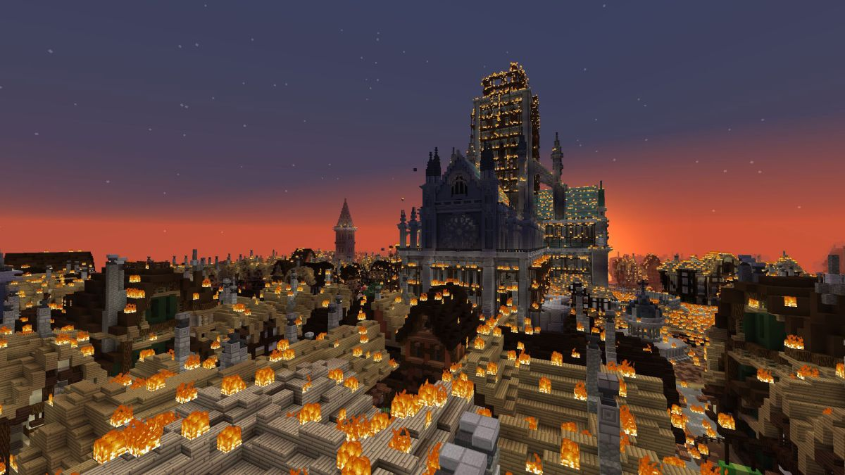 watch london burn in the museum of london u0026 39 s incredible great fire 1666 minecraft map
