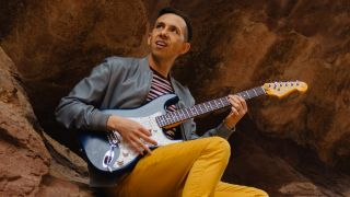Cory Wong playing his signature Fender Stratocaster