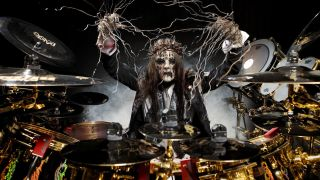 Joey Jordison, #1, of Slipknot, shot in Des Moines, Iowa, 2008