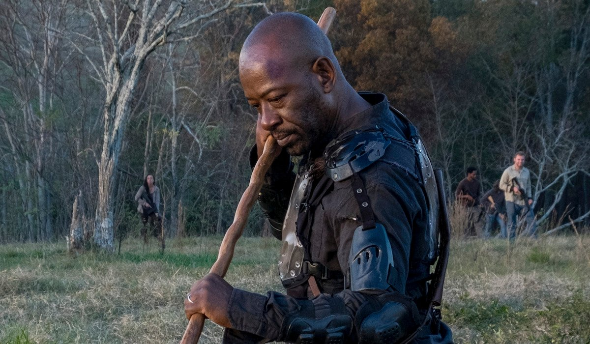 morgan and his stick the walking dead season 8 finale
