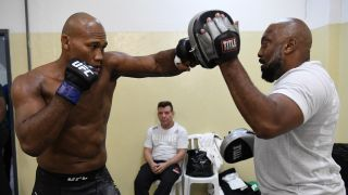 UFC 262 Fighter Ronaldo Jacare Souza trains for fights with a passion