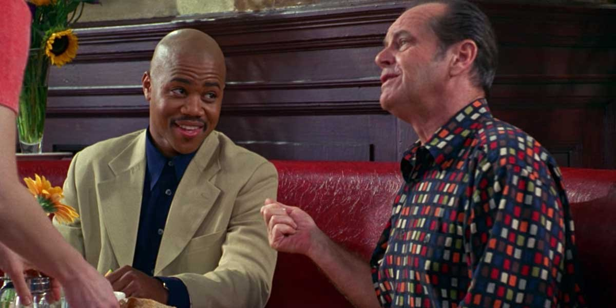 Cuba Gooding Jr. and Jack Nicholson in As Good as It Gets