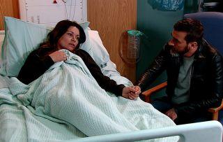 Coronation Street spoilers: Peter Barlow visits a fragile Carla in hospital