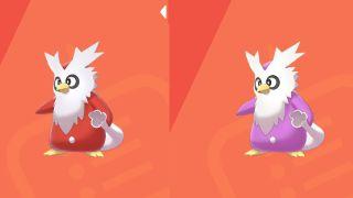 Pokemon Sword and Shield shiny Delibird