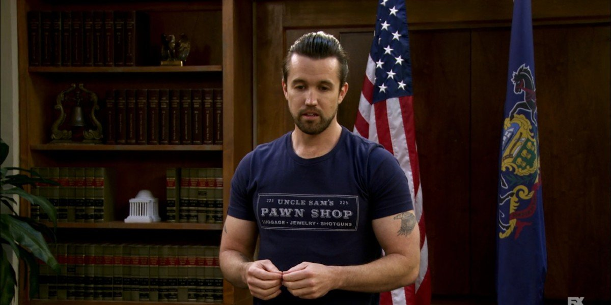 Rob McElhenney in It's Always Sunny in Philadelphia Episode Hero Or Hate Crime?