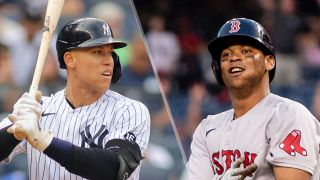Aaron Judge and Rafael Devers, who will play in the Yankees vs Red Sox live stream