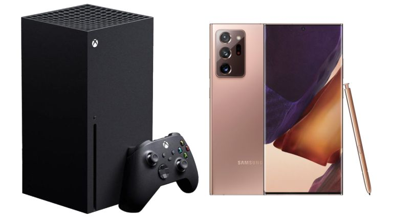 Xbox Series X and Galaxy Note 20