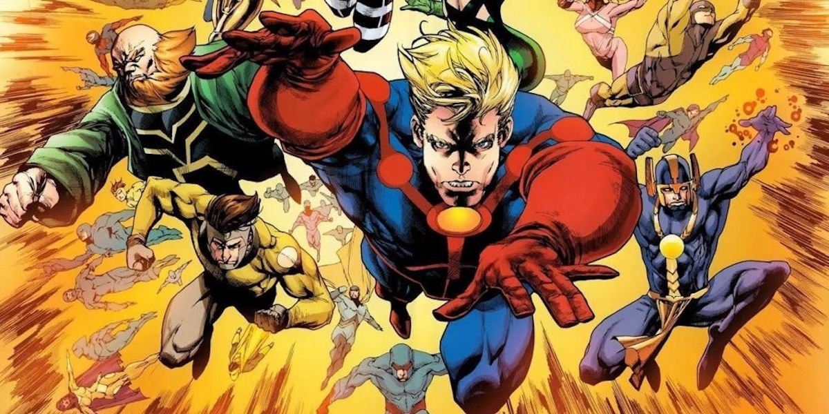 The Eternals charge into action (Marvel Comics)