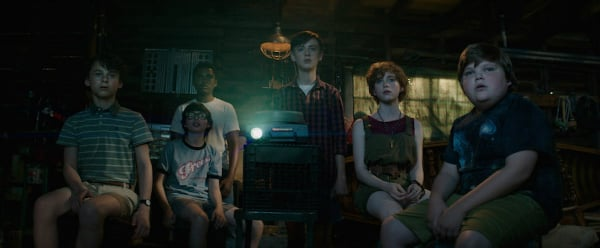 The IT kids watch a terrifying movie