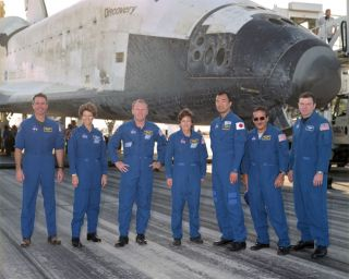 STS-114 Astronauts Celebrate Successful Mission, Remember Columbia's Crew