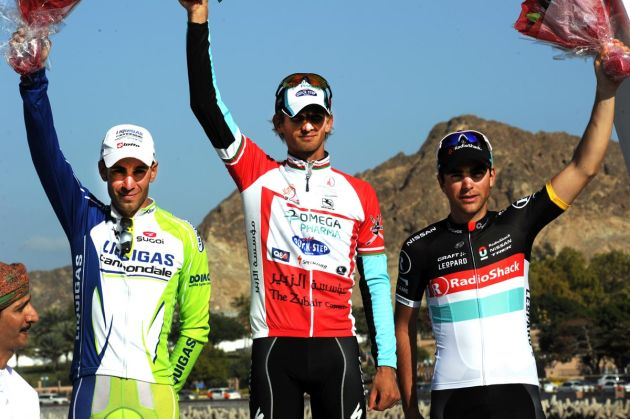 Peter Velits tops final podium, Tour of Oman 2012, stage six