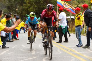 Tour Colombia 2020 3rd Edition 4th Stage Paipa Santa Rosa De Viterbo 169 km 14022020 Egan Bernal COL Team Ineos Esteban Chaves COL Mitchelton Scott photo Dario BelingheriBettiniPhoto2020