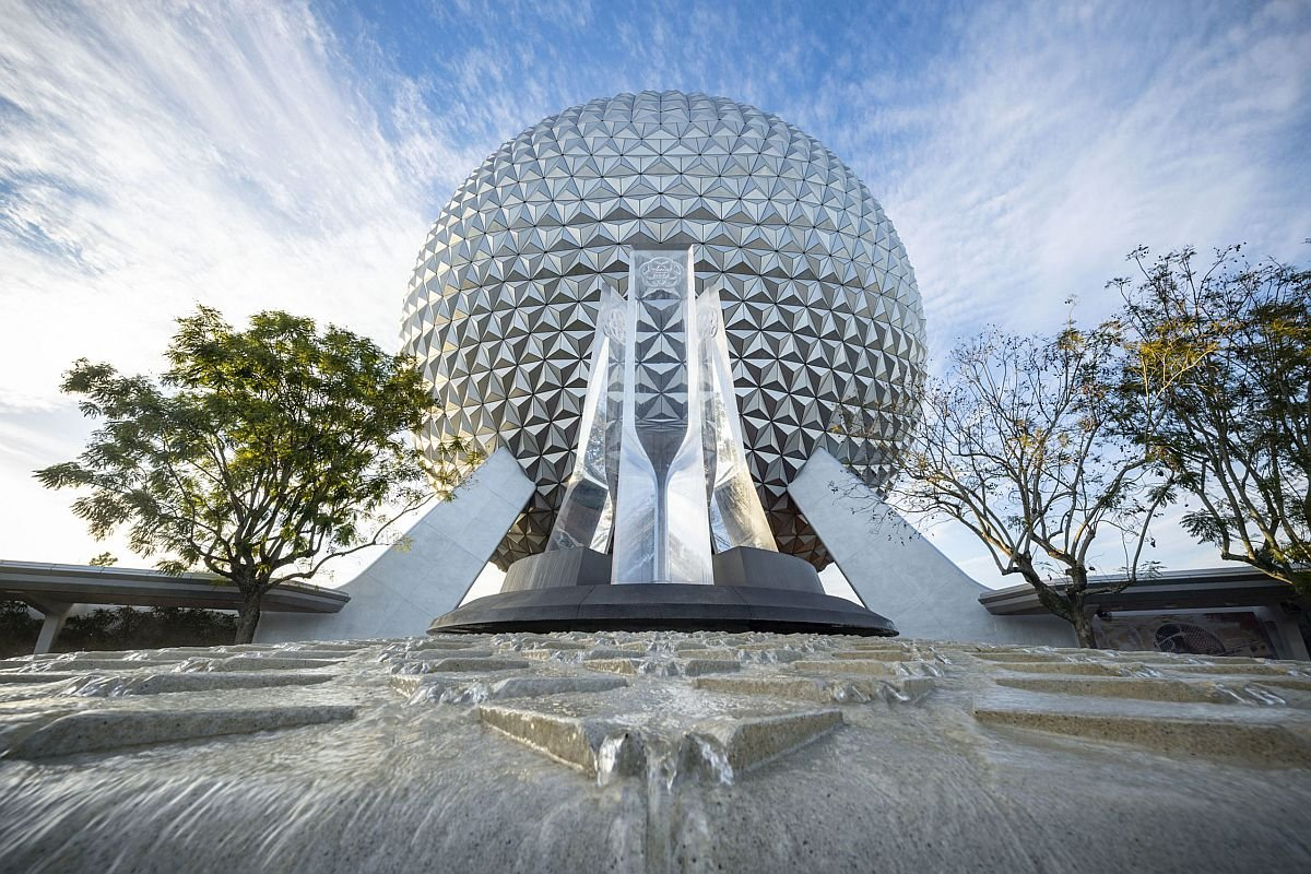 Epcot Fountain in daylight