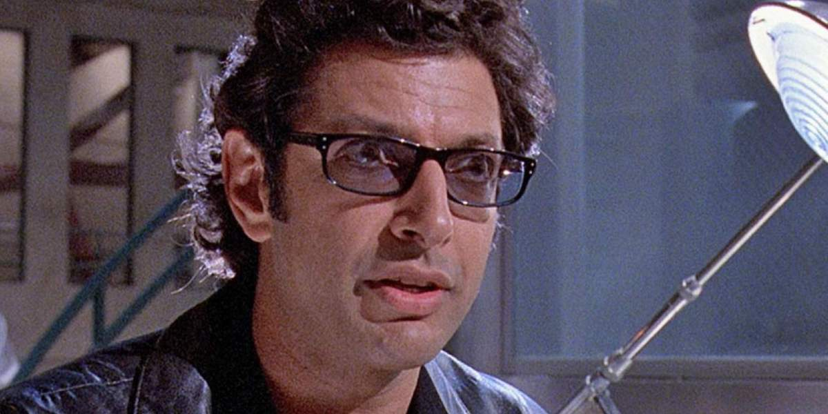 Dr. Ian Malcolm (Jeff Goldblum) in Jurassic Park