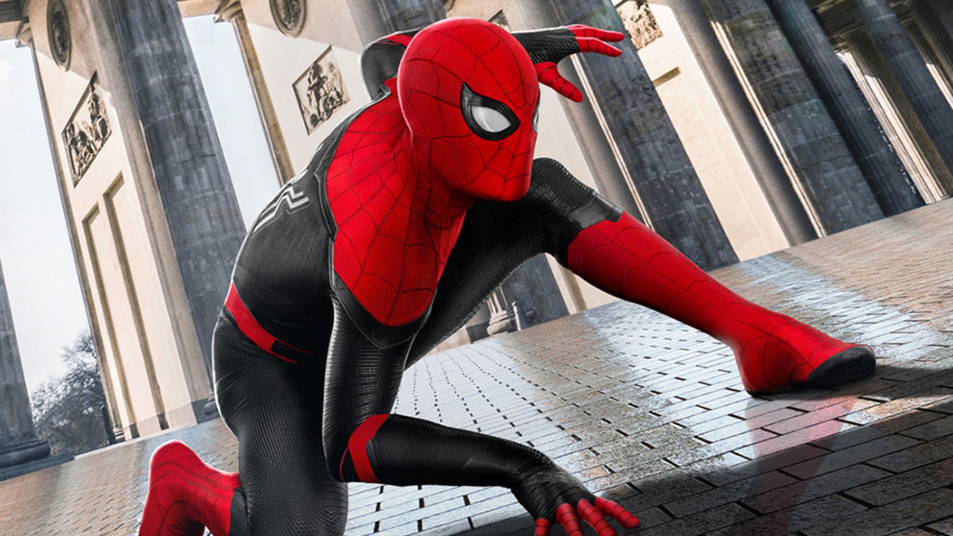 A promotional image for Marvel Studios' Spider-Man: Far From Home