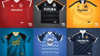 Typography football kits