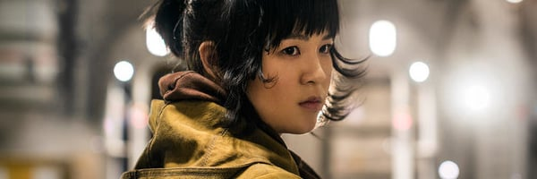 Rose Tico Kelly Marie Tran Star Wars The Last Jedi Looking over shoulder