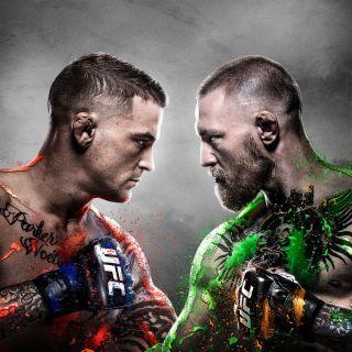 Poirier and McGregor in UFC 257