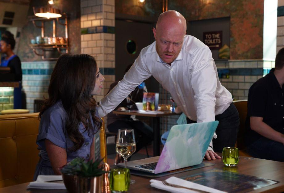 EastEnders Max helps Ruby with work